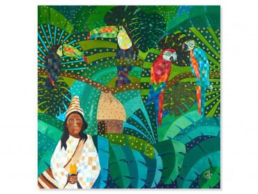 Tableau coloré Yucatan Forest