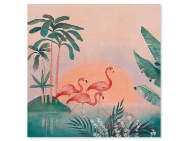 Tableau déco Sunset Flamingo