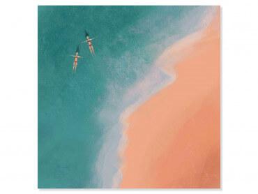 Tableau illustration Relax au bord de l'eau