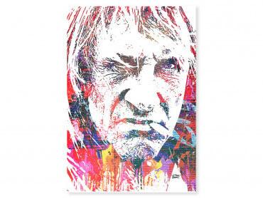Tableau Pop Art Depardieu Portrait Street