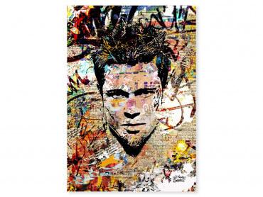 Tableau Pop Art Brad Pitt Cut papers