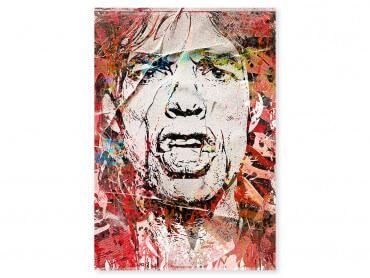 Tableau Pop Art Mike Jagger Street