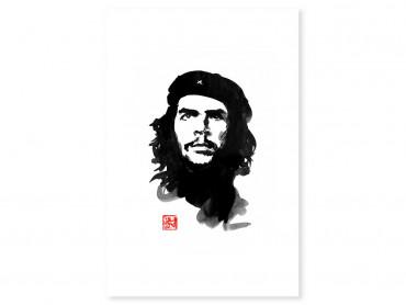 Tableau célébrité Che Guevara Portrait à l'aquarelle