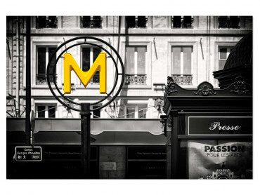 Tableau Paris M Comme Metro