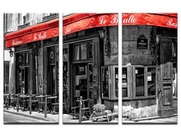 Tableau Paris Café au coin de la rue