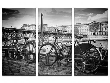 Tableau Paris Vélo au bord de Seine