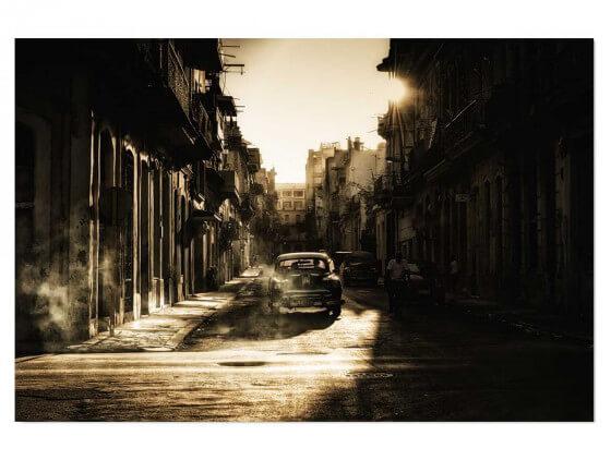 Tableau paysage Sunset cubain