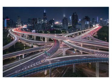 Tableau paysage Shanghai Highway