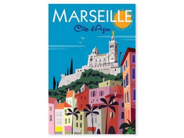 Tableau Illustration Vintage Marseille