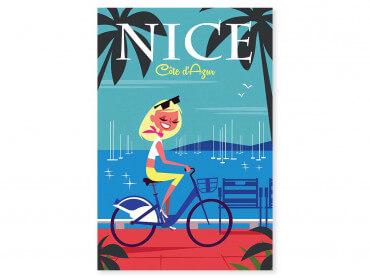 Tableau Illustration Vacances sur la Baie des Anges