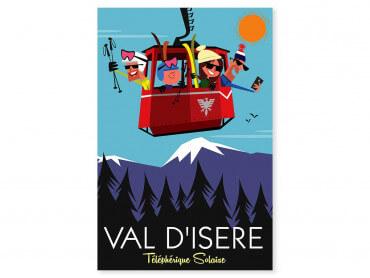 Tableau Illustration Ski à Val D'Isère