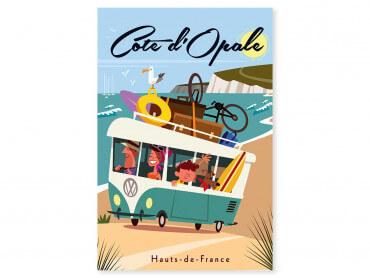 Tableau Illustration Road Trip sur la Côte d'Opale