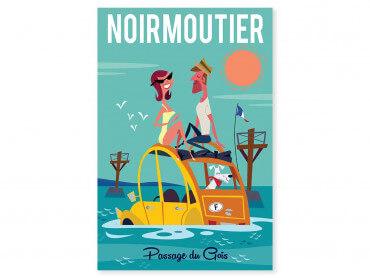 Tableau Illustration Road Trip à Noirmoutier