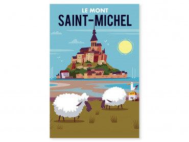 Tableau Illustration Balade au Mont Saint Michel