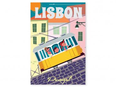 Tableau Illustration un Week end à Lisbonne