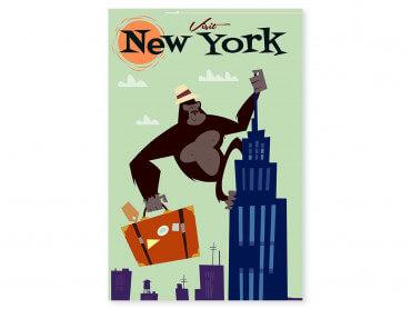 Tableau Illustration King- Kong