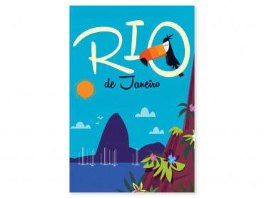 Tableau Illustration Toucan à Rio De Janeiro