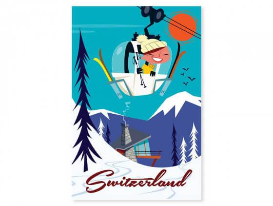 Tableau Illustration Voyage en Suisse