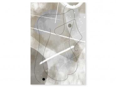 Tableau Déco Beige abstrait et soft line n°1
