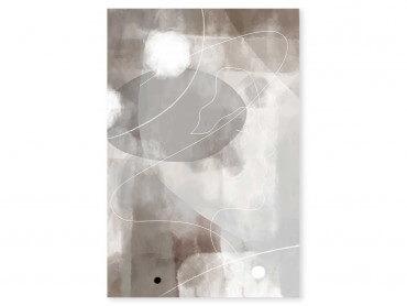 Tableau Déco Beige abstrait et soft line n°2
