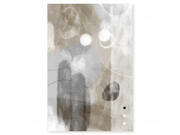 Tableau Déco Beige abstrait et soft line n°3