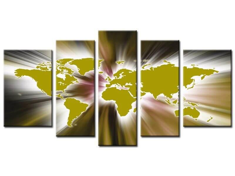 Tableau sur toile plexi alu et peint design abstrait pas cher - Tableau peinture design ...