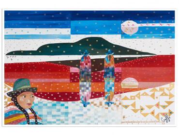 Poster coloré du Chili