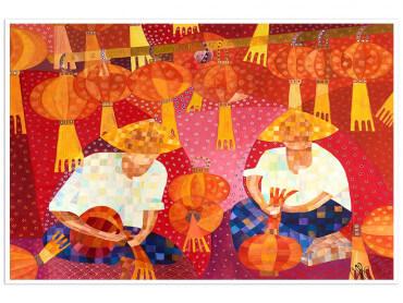 Poster coloré Lanternes chinoises