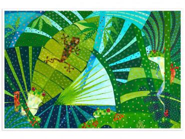 Illustration colorée Costa Rica faune - Affiche