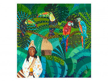 Affiche coloré Yucatan Forest