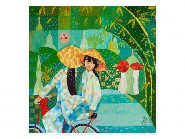 Affiche coloré Chapeau chinois