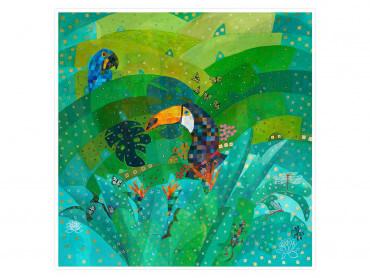 Affiche colorée Tropical Forest