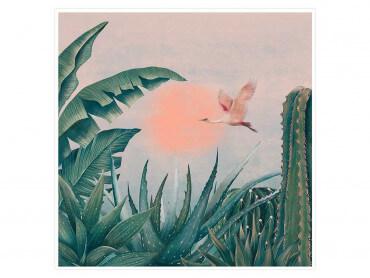 Illustration Cactées au soleil - Affiche