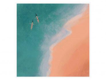 Illustration Relax au bord de l'eau - Affiche