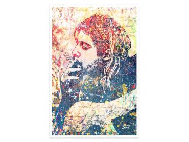 Affiche Pop Art Kur Cobain Street