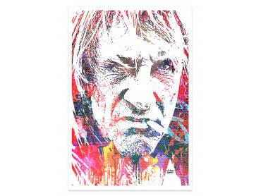 Affiche Pop Art Depardieu Portrait Street
