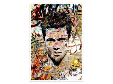 Affiche Pop Art Brad Pitt Cut papers