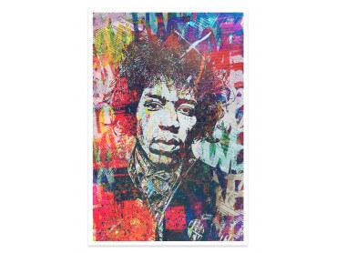 Affiche Pop Art Jimmy hendrix Psyché