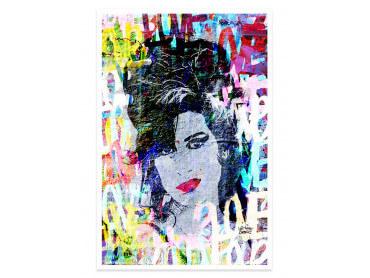 Affiche Pop Art Amy Winehouse Street