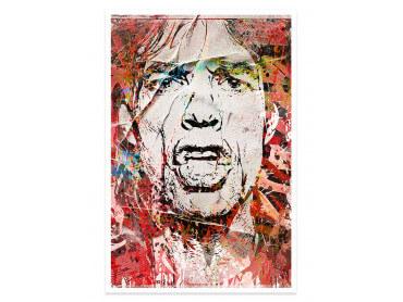 Affiche Pop Art Mike Jagger Street