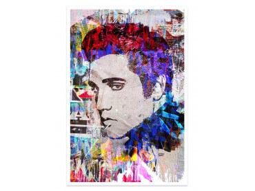 Affiche Pop Art Elvis Presley Cut Papers
