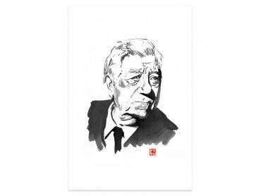 Affiche célébrité Jean Gabin Portrait