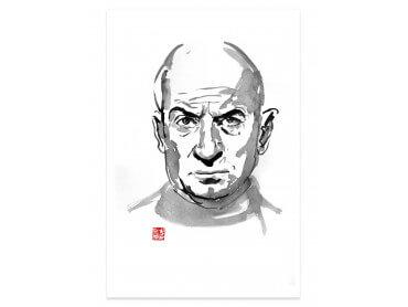 Affiche célébrité Louis de Funes Portrait