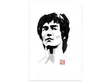 Affiche célébrité Bruce Lee Portrait