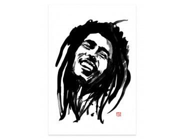 Affiche célébrité Bob Marley Portrait