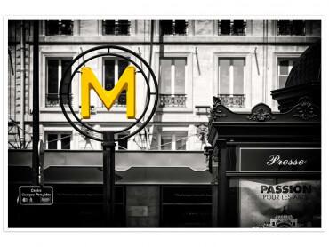 Affiche Paris M Comme Metro