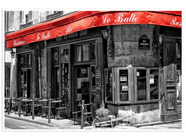 Affiche Paris Café au coin de la rue