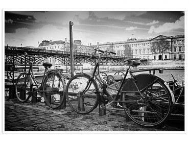 Affiche Paris Vélo au bord de Seine