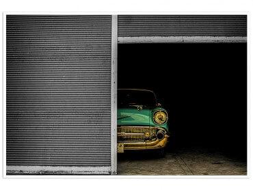 Affiche Paysage Chevrolet au garage