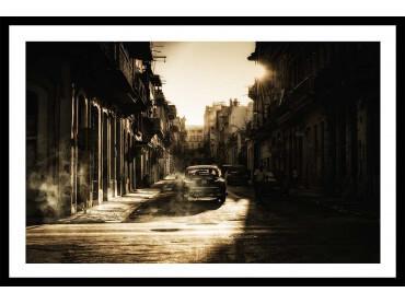 Affiche Déco Sunset cubain